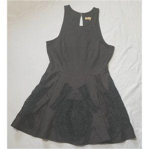 LBD Black Embellished Cocktail Skater Dress